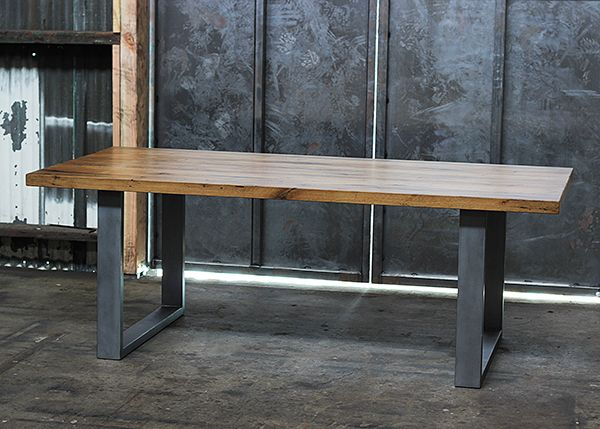 Solid Reclaimed Oak And Metal Dining Table By Saint Arbor, Los Angeles Legs?
