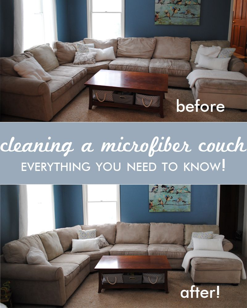 Microfiber Couch Cushions On Sofa