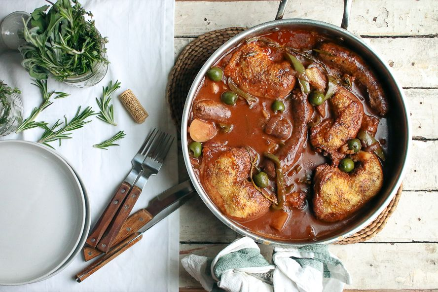 Chicken and italian sausage cacciatore food network