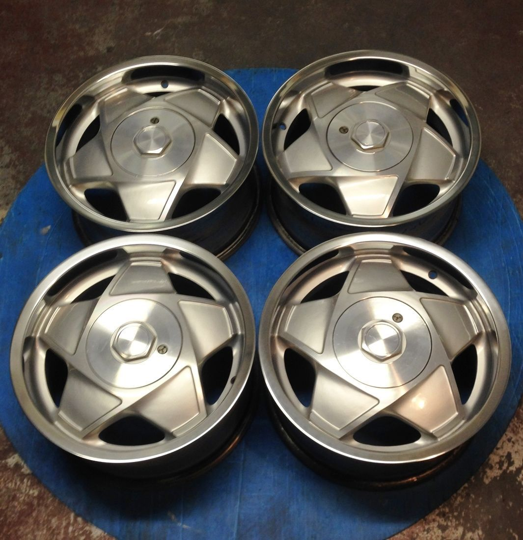 16 rare atiwe 4x100 alloy wheels polished deep dish vw golf polo bmw e30 jdm