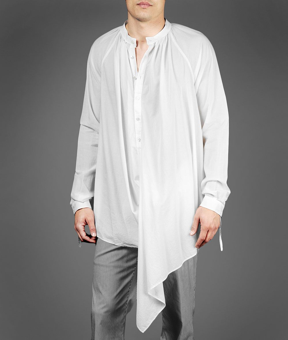 For The Guy That Wants To Look Like A Cross Between A Pirate And An Escaped Mental Patient Designer Clothes For Men Fashion Asymmetrical Shirt