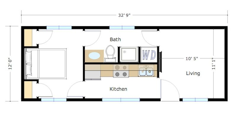 Under 400 Sq Ft Tiny House On Wheels Plans Under Free Printable