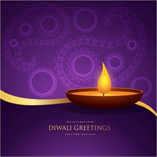 Free Vector Diwali Greetings Purple Floral Art Background Http Www Cgvector Com Free Vector Diwali Greetings Happy Diwali Cards Diwali Greetings Diwali Cards