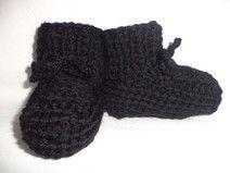 Babyschuhe gestrickte Socken Gr. 74/80 Wolle