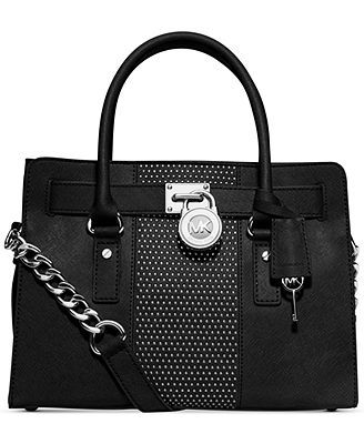 f5de6c930004 MICHAEL Michael Kors Microstud Hamilton Center Stripe East West Satchel $348