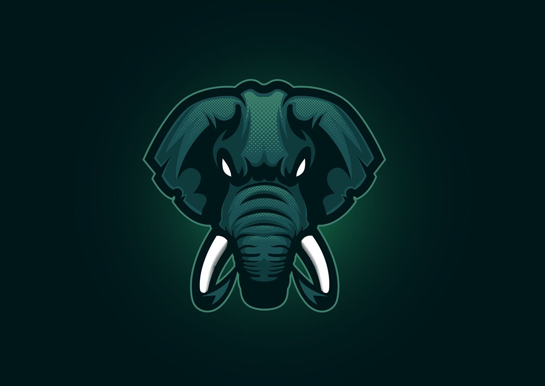 Elephant mascot logo for esports on behance animal logo