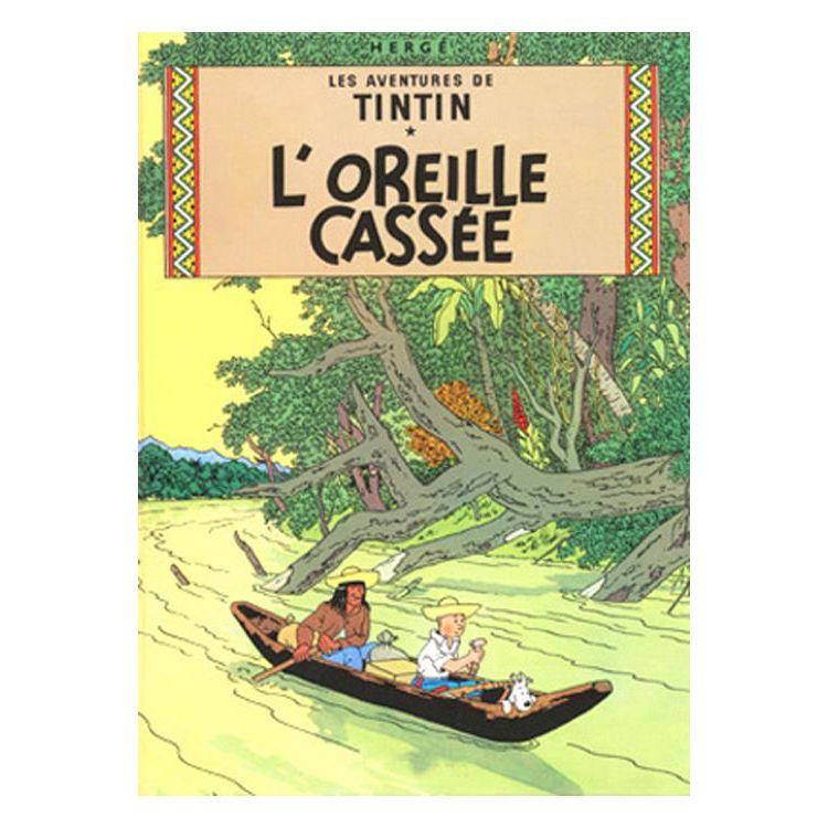 Tintin Plakat Det Knuste Ore Moulinsart Tintin Plakater Ore
