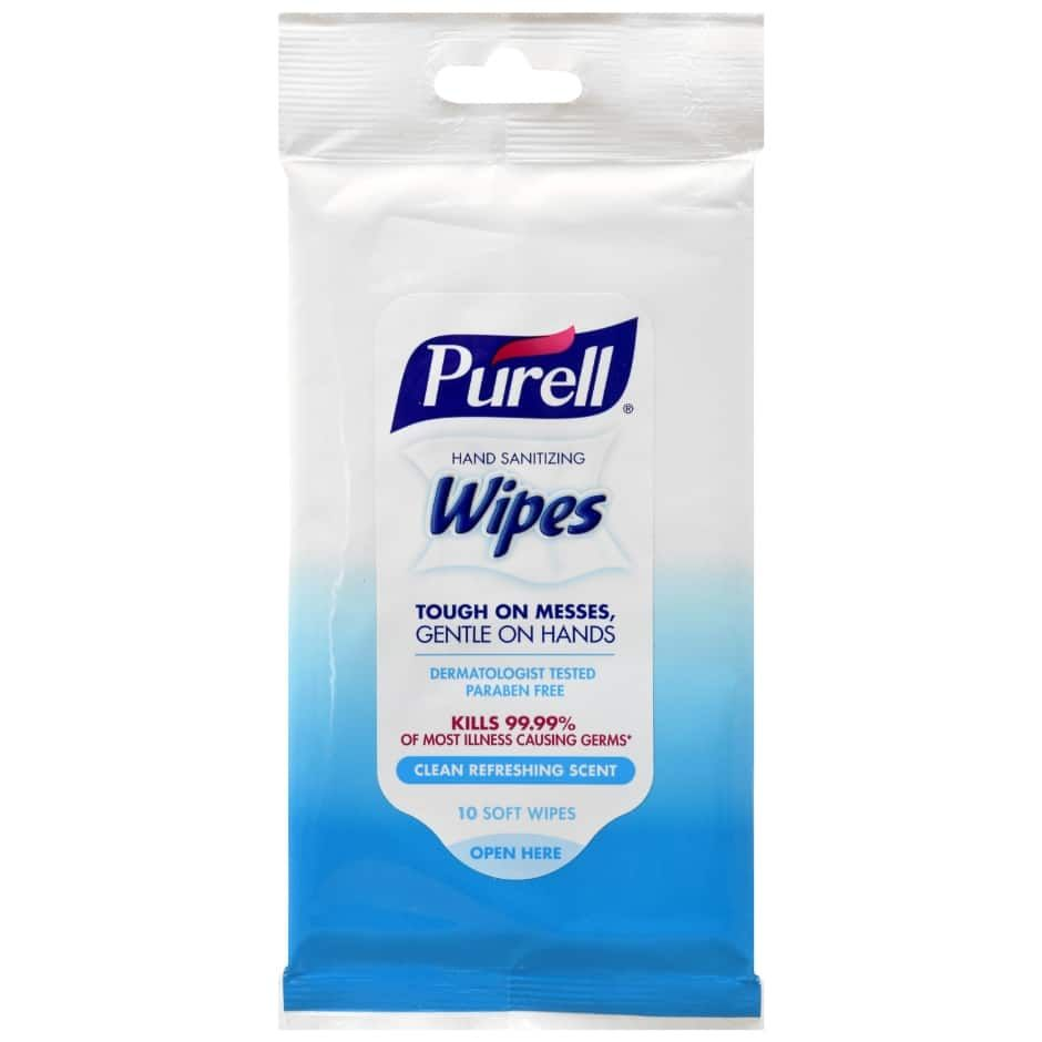 Purell Hand Sanitizing Wipes 10 Ct Packs Purell Wipes Hand