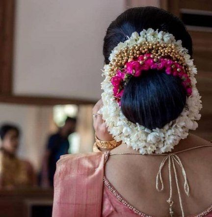 Pin By Gana On Hair Bridal Hairstyle Indian Wedding Indian Bridal Hairstyles Indian Hairstyles