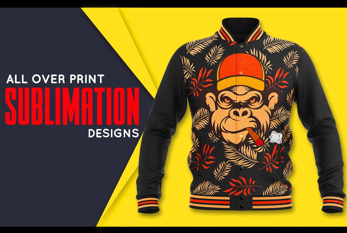 I will do all over print sublimation designs for hoodie