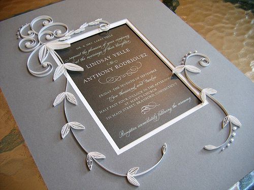 Quilled Wedding Invitation