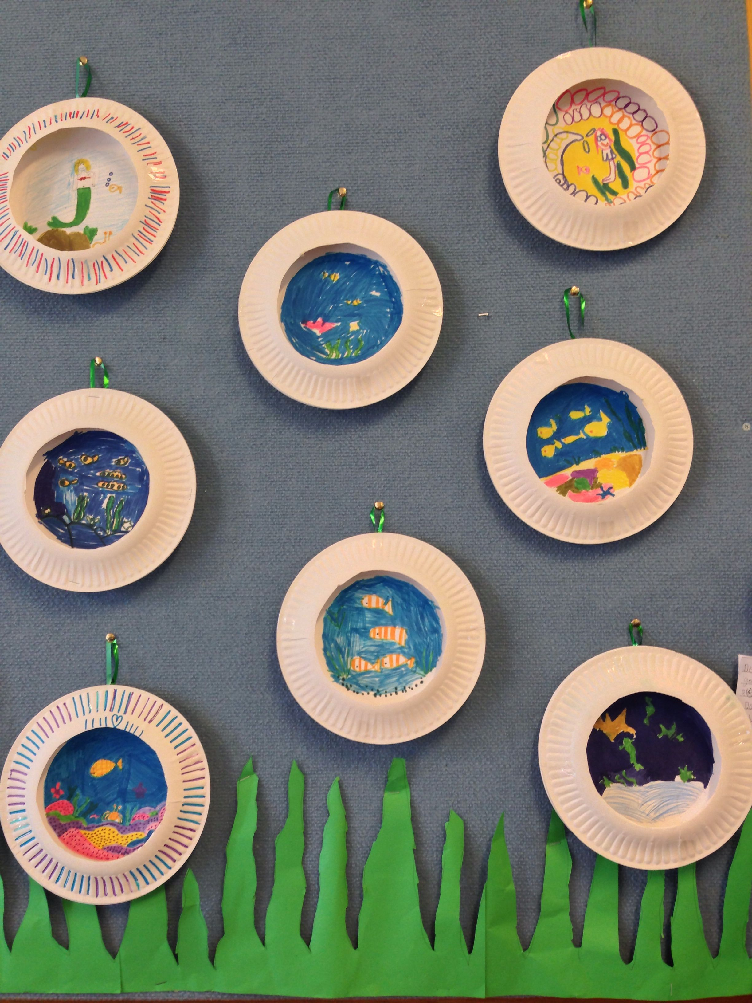 Under The Sea Art With Paper Plates