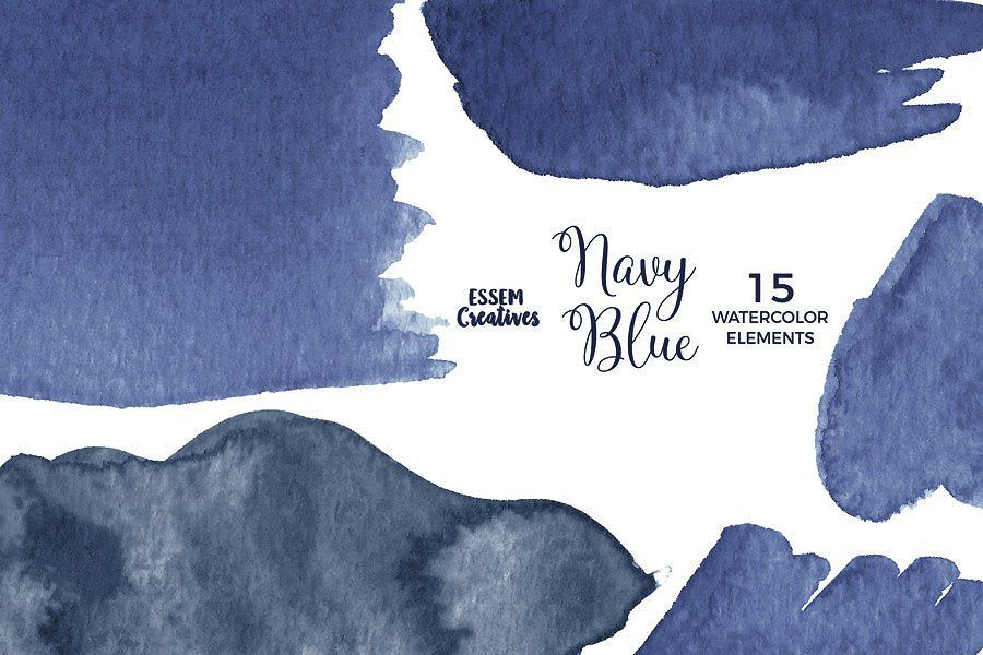 Navy Blue Watercolor Splash Clipart Watercolor Splash Blue