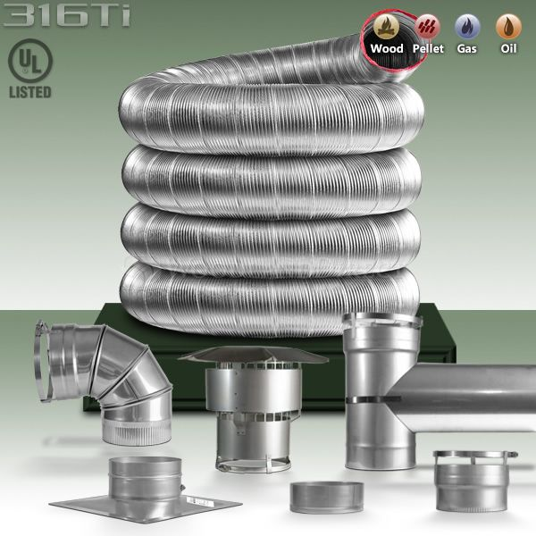 Pellet Stove Liner Kit 316ti Chimney Champion Easy Flex Chimney Liner Kit 4 Foreclosure Remodel Flex Liner