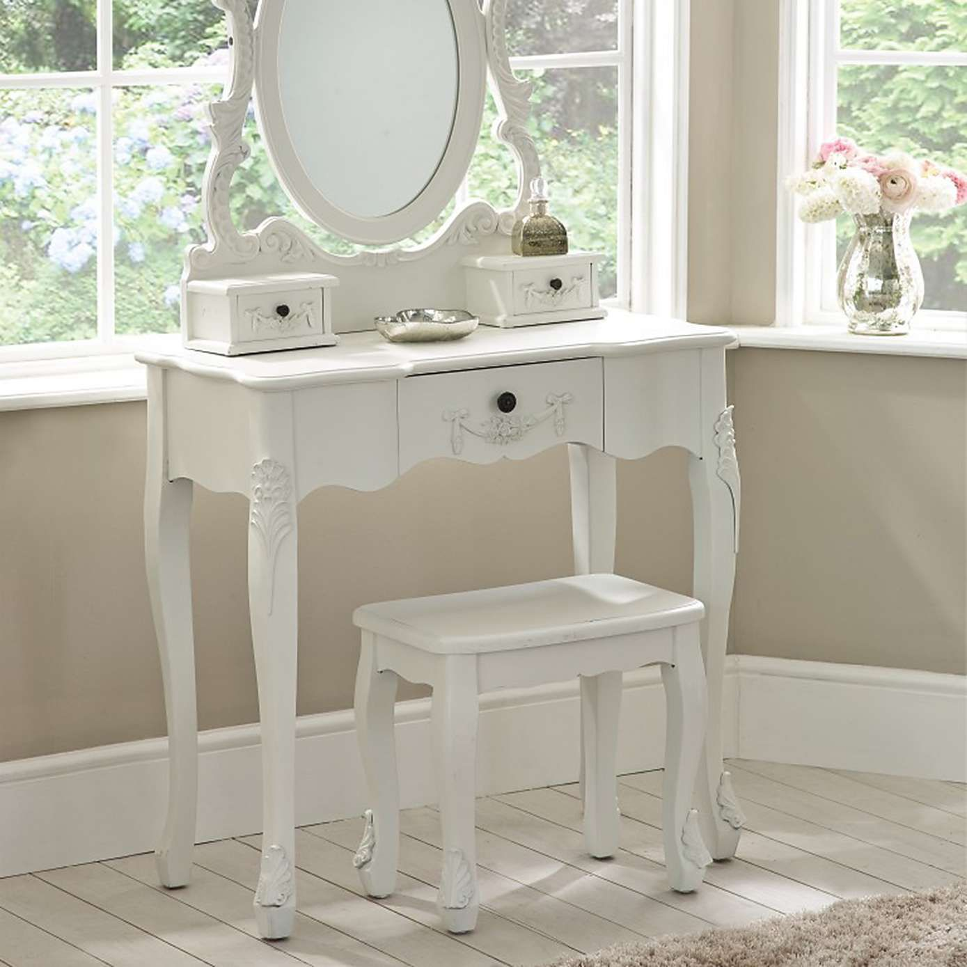 Toulouse White Dressing Table Set White Dressing Tables  # Muebles Toulouse