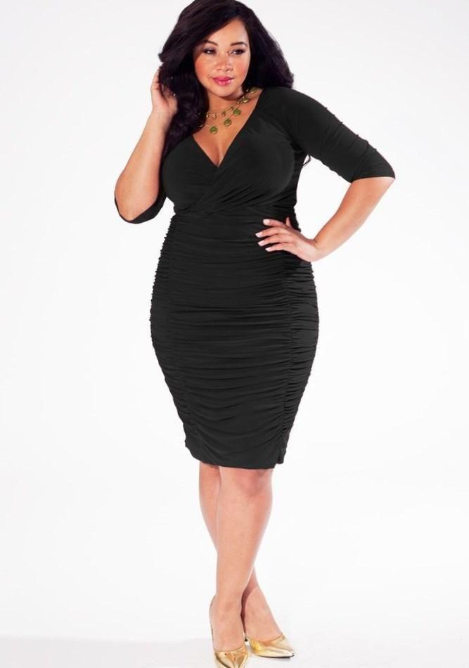 Black Dresses Plus Size Cocktail Pluslook Eu Collection Khethiwe