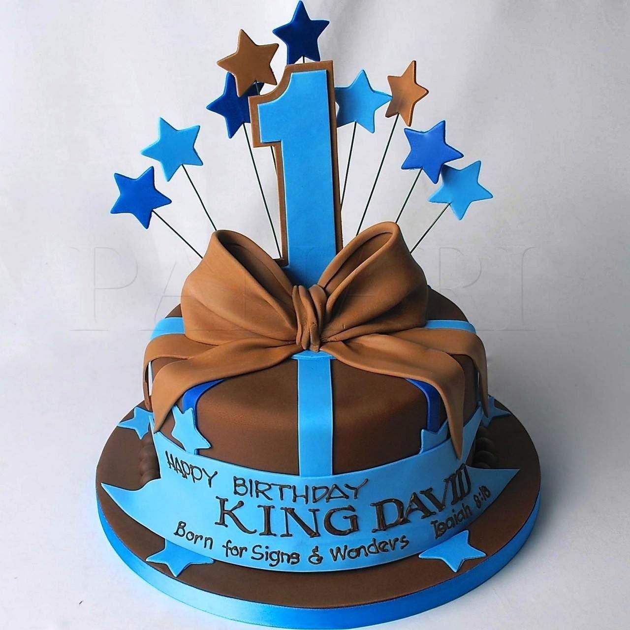 Sensational First Birthday Cake Boy Boy 1St Birthday Cake Blue And Green Bears Funny Birthday Cards Online Overcheapnameinfo