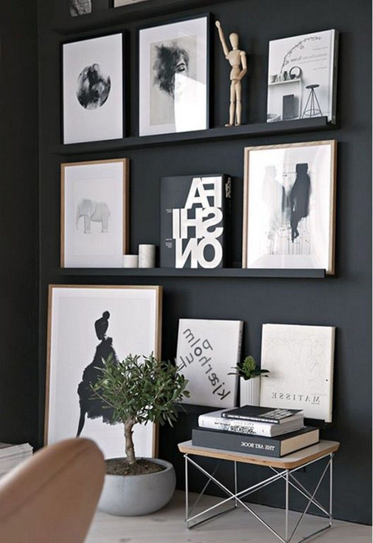 cool black white living room | 23+ Cool Black and White Wall Gallery Decorating Ideas for ...