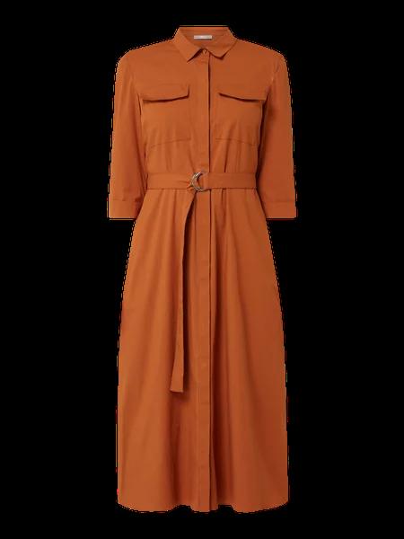 Jake S Collection Blusenkleid Mit Taillengurtel In Braun Online Kaufen 4020531 P C Online Shop Blusenkleid Oberhemden Kleid Arbeit