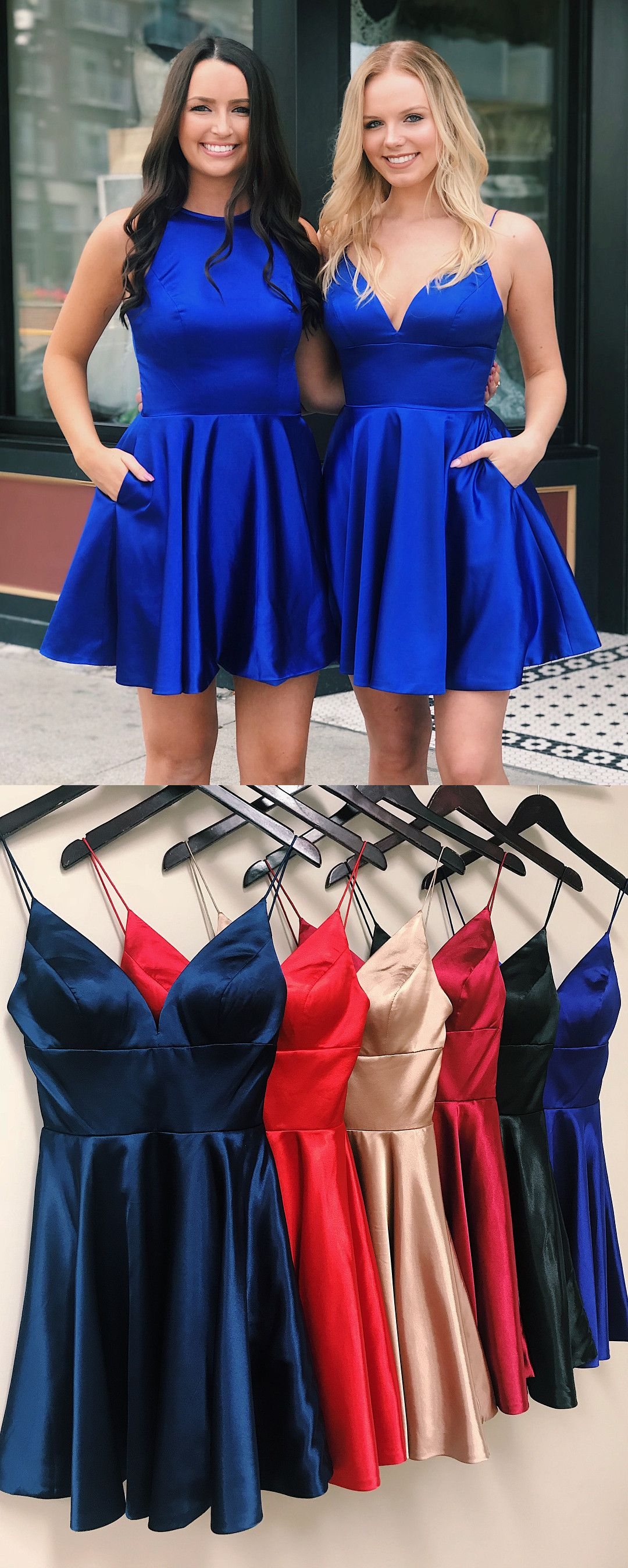 Cute straps short red homecoming dress party dress prom dresses