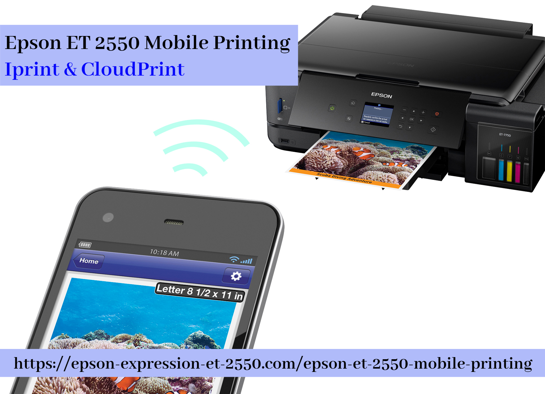 Epson Et 2550 Mobile Printing Iprint Cloudprint Mobile Print Printing Solution Printer