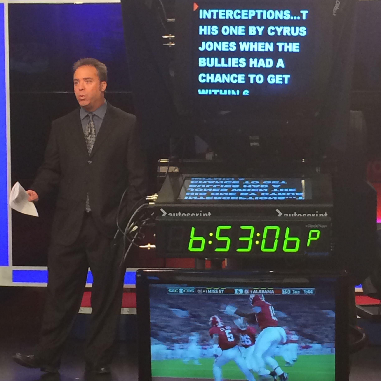 WREG-TV Sports Anchor Mike Ceide on a weekend newscast.