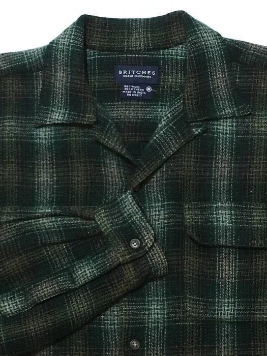 Britches Great Outdoor Board Shirt Jacket Medium Wool Blend Lumberjack Plaid Britchesgreatoutdoors Surfb Mens Tops Lumberjack Plaid Casual Button Down Shirt