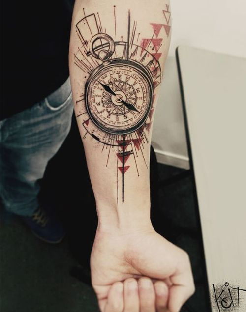 Beautiful Compass Tattoo On Arm For Men Perfect Tattoos