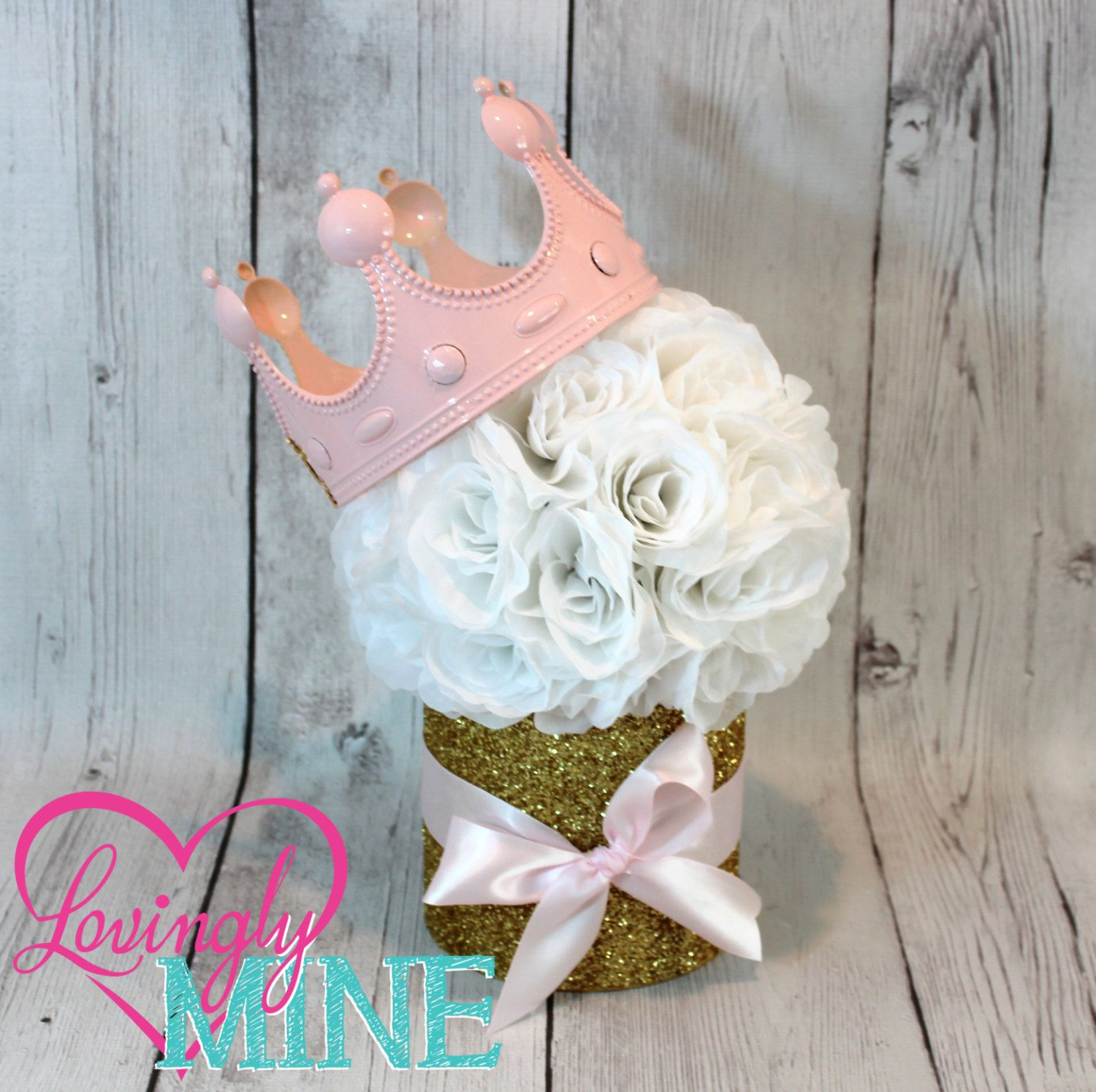 Princess party centerpiece perfect for any event baby for Princess dekoration