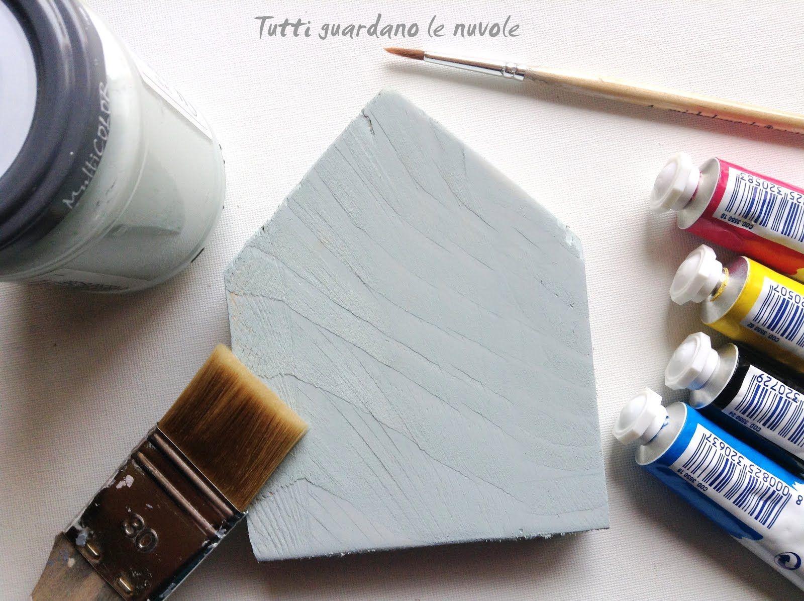 Tutorial Pittura Shabby Chic : Piccole case in legno semplici da realizzare dipinte a mano con