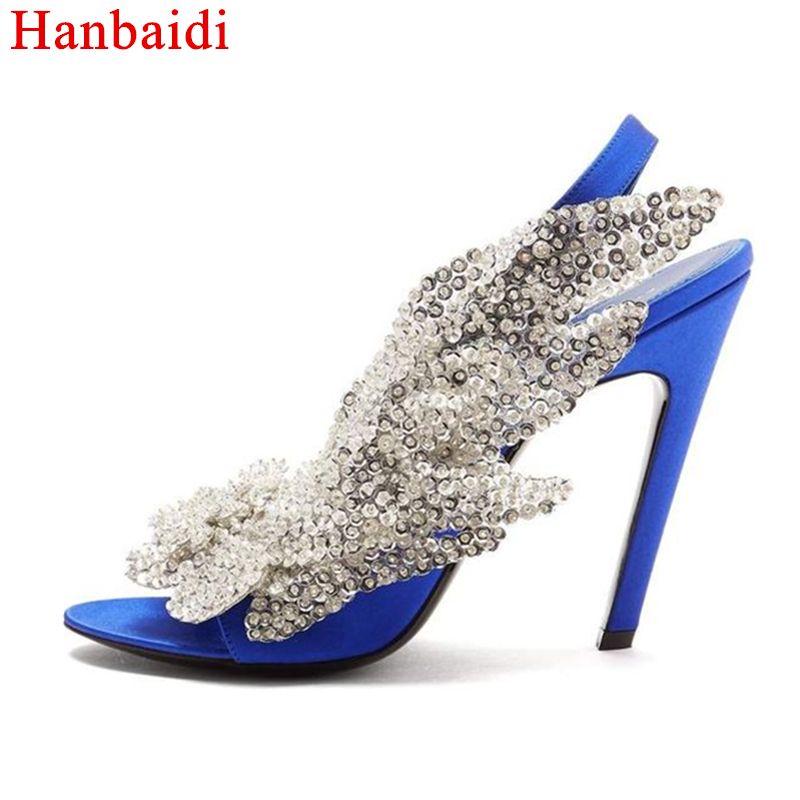 Strass Femmes D'Été Sexy Luxury Sandales Hanbaidi Haut Design Bqxfgw8