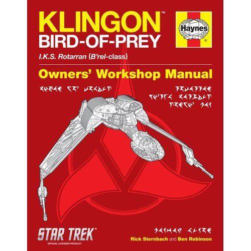star trek klingon bird of prey haynes manual christmas list here rh pinterest co uk list of all haynes manuals list of haynes repair manuals