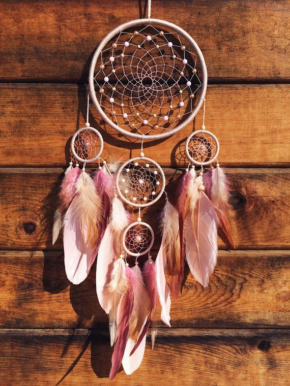 Dream catcher Christmas gift for her Large Dream catcher Pink dreamcatcher Beige dream catcher Wedding dream catcher Birthday gift for her #dreamcatcher