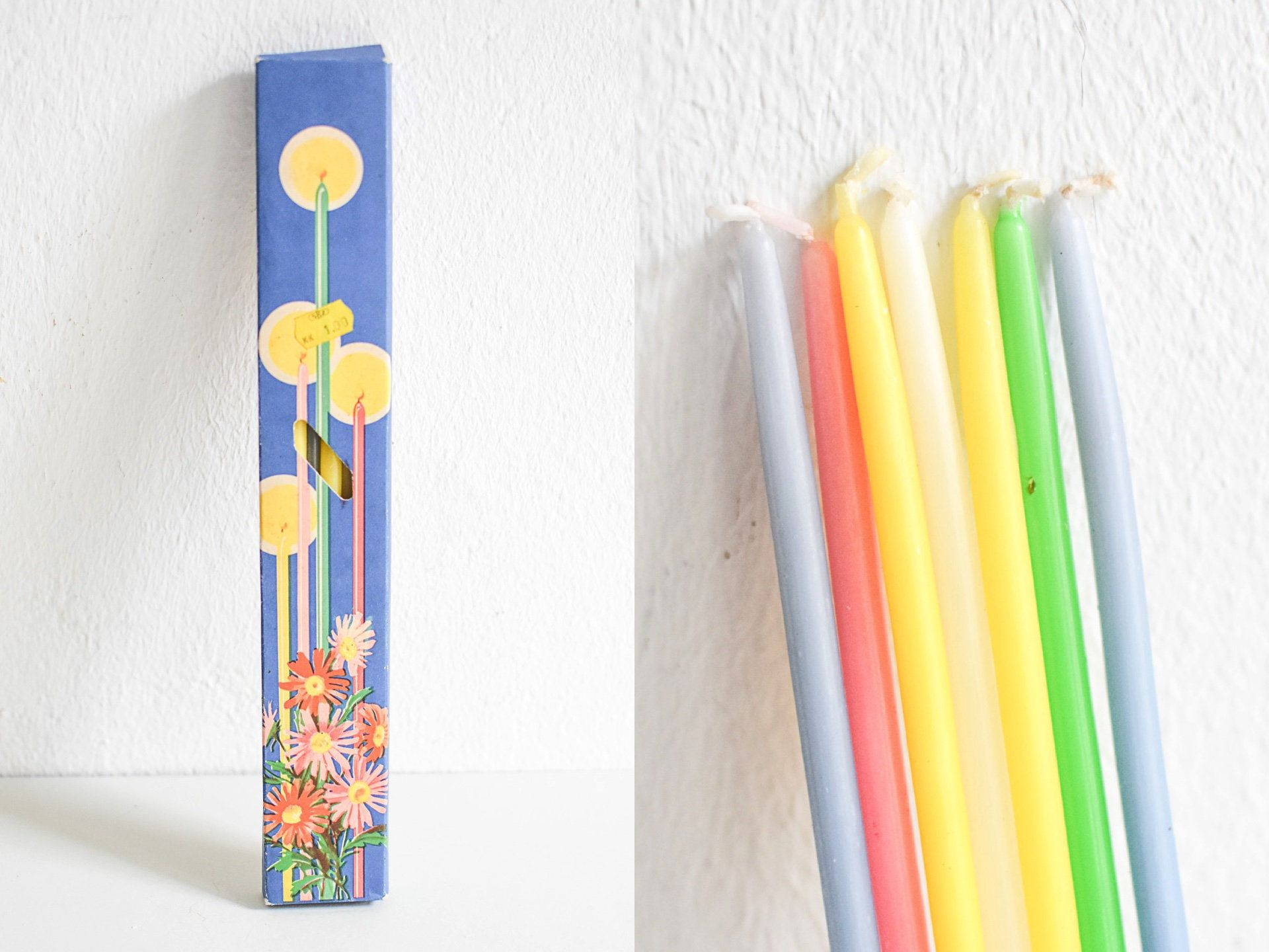 Vintage Candles Long Candles Thin Candles Thin Taper Candles