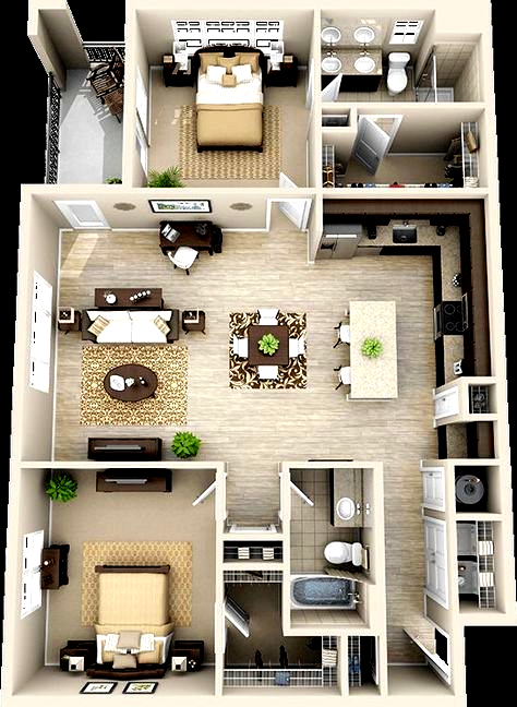 3d Floor Plan Apartment Google Search Is Creative Inspiration For Us Get More Photo About Home De Small House Design Home Design Plans Apartment Floor Plans