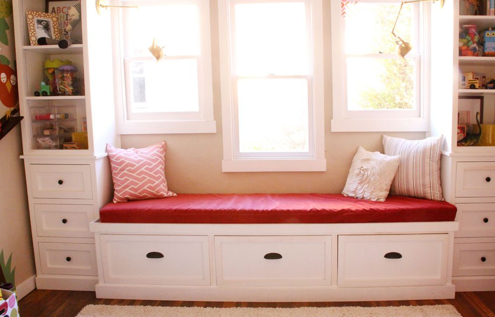 Girls Room New Window Seat Cushion Finally Window Seat Design Window Seat Cushions Window Storage Bench