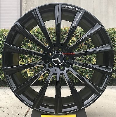19 Mercedes Benz Wheels Tires C300 Black Sl55 E55 E350 Cls550 Cls