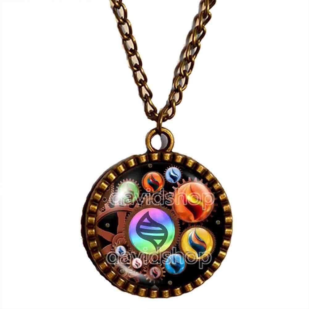 Pokemon Keystone Mega Stone Necklace Colourful Pendant Lucarionite  Heracronite Steampunk Gear   Pokemon necklace, Pokemon jewelry, Pokemon