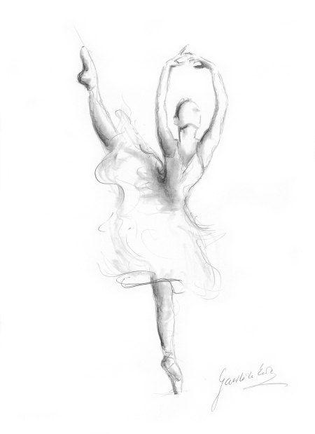 Ballerina print ballerina sketch print of drawing - Dessiner une danseuse ...