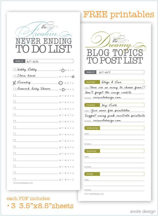 keep organized! Home Office Pinterest Blog topics, Free - task list sample
