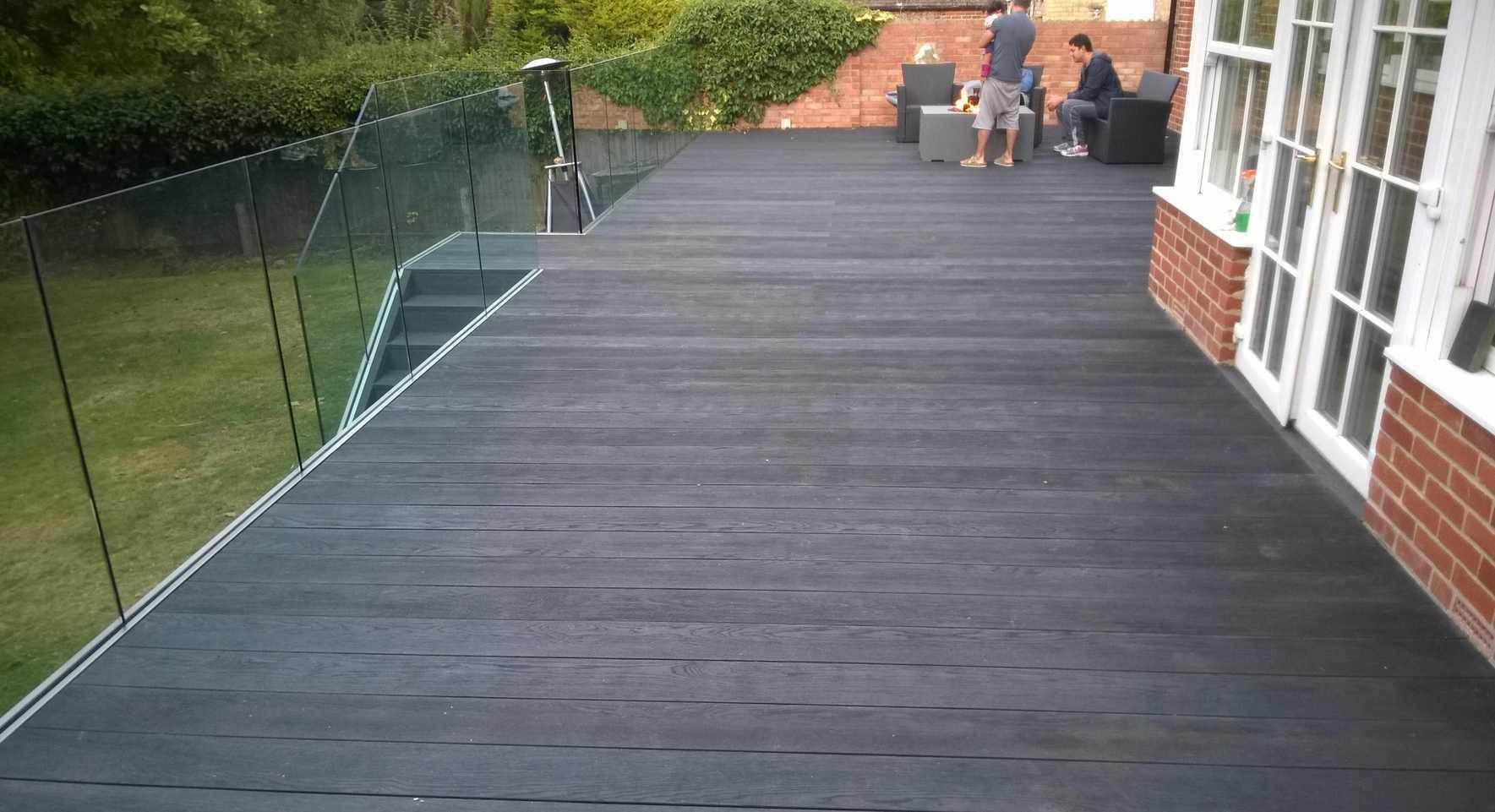 Millboard decking carbonised charred enhanced grain millboard