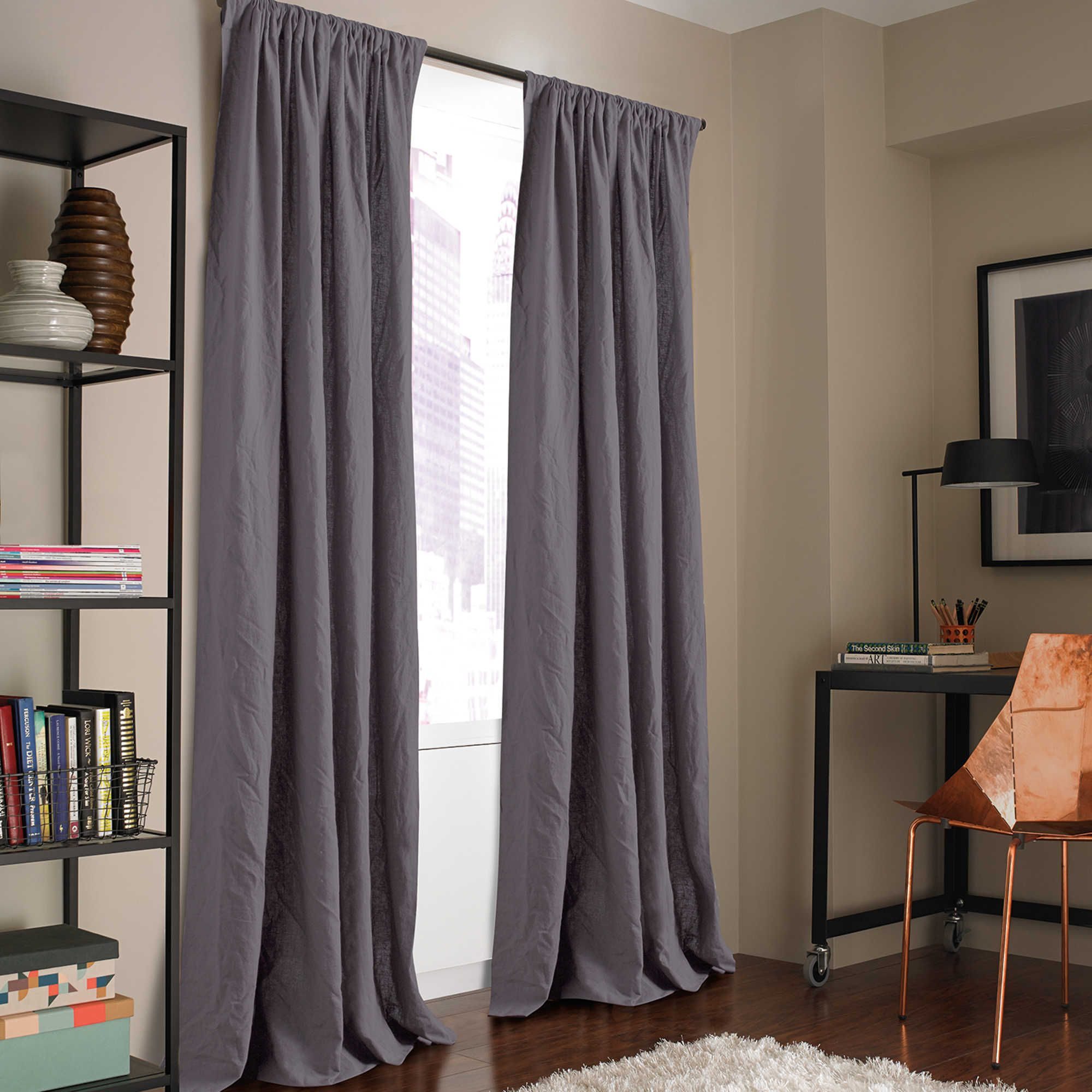 Kenneth Cole Reaction Home Mineral 95-Inch Window Curtain