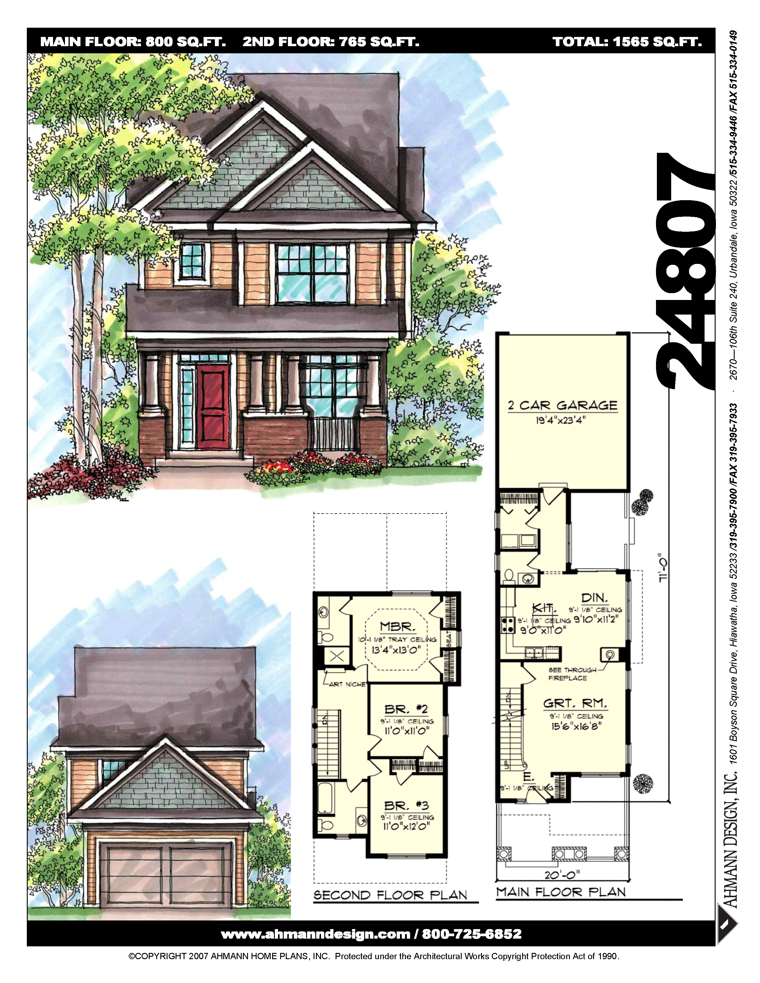 24807 American Houses House Plans Great Rooms