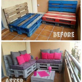 Make a Balcony Pallet Lounge under 100$