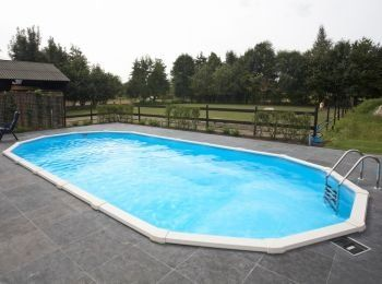 12 x 24ft Oval Doughboy Swimming Pool Package: Amazon.co.uk: Garden ...