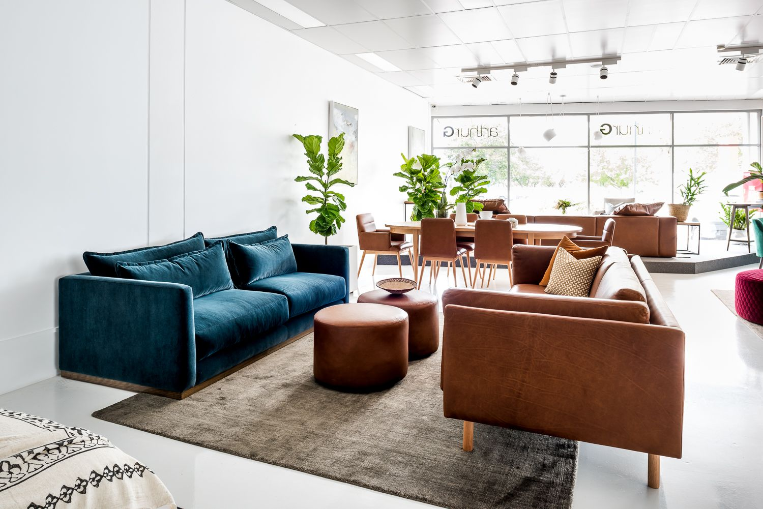 Australian Made Sofas The Spencer And Conrad Sofas With Arty Ottomans In Perth All