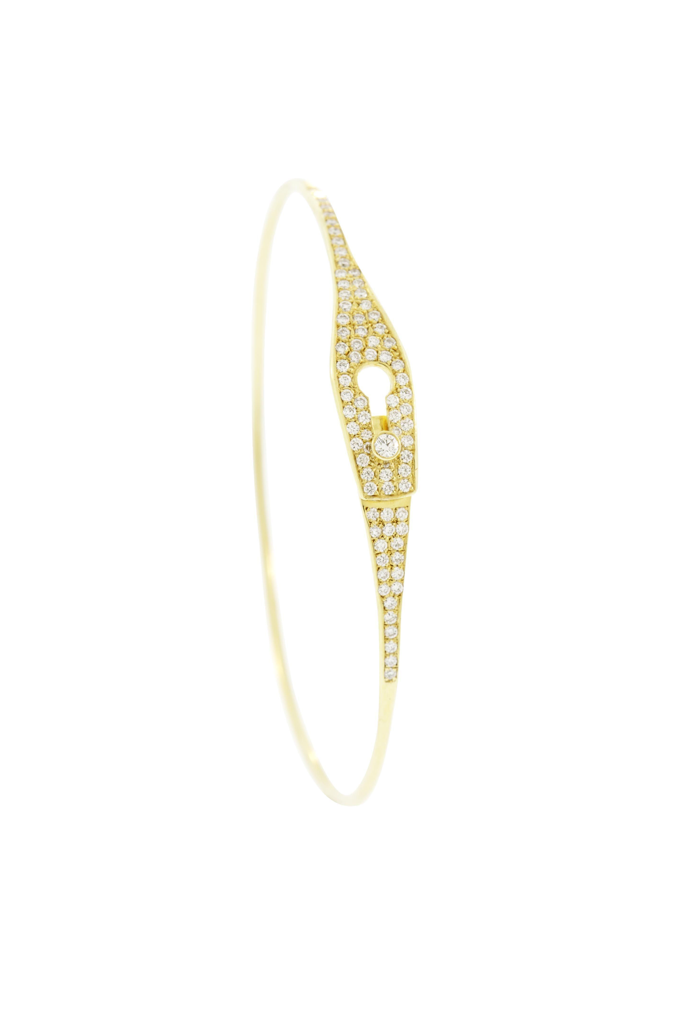 Cuff gold bracelet with diamonds gorgeous bracelets pinterest