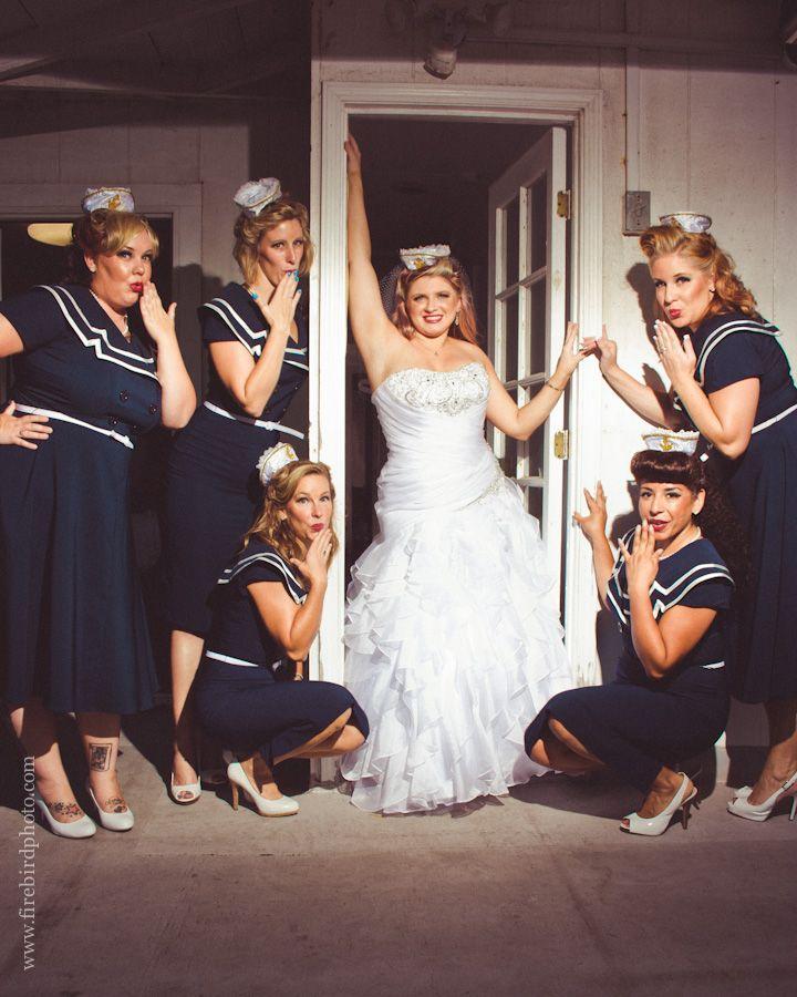 A Sailor Chic Wedding Sailor Wedding Nautical Wedding Theme Wedding Bridesmaids