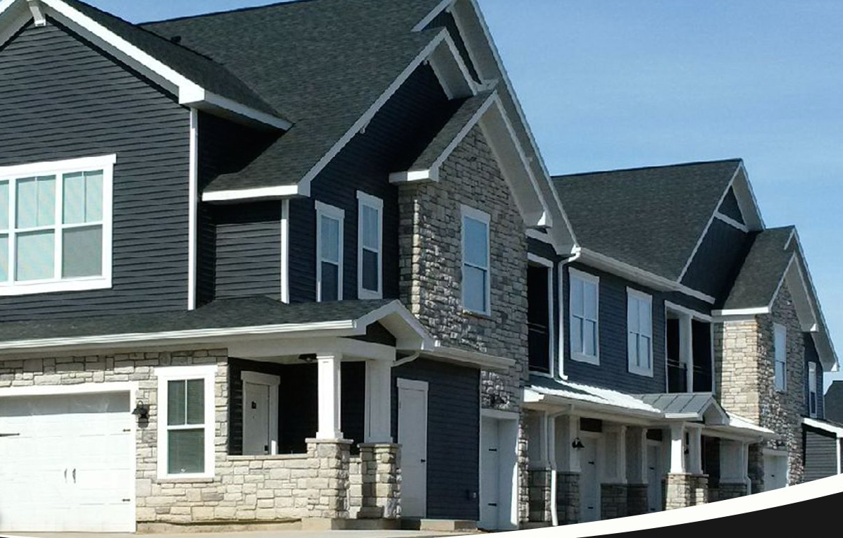 Kaycan Vinyl Siding Manor Siding With Grey Stone Grey Gray