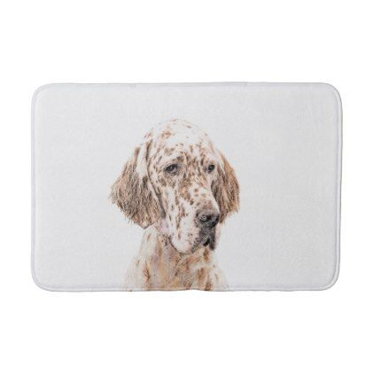 English Setter Orange Belton Bath Mat Dog Puppy Dogs Doggy Pup